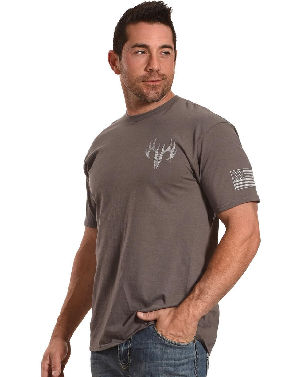 Buck Wear Men's Grey Reload Tee , Grey, hi-res