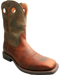 Twisted X Camo Top Hand Cowboy Boots - Square Toe , , hi-res
