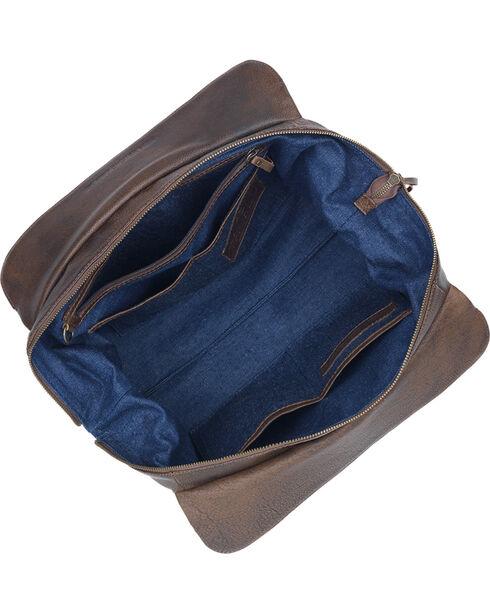 TrueLu Women's Brown Ava Shoulder Bag , Dark Brown, hi-res