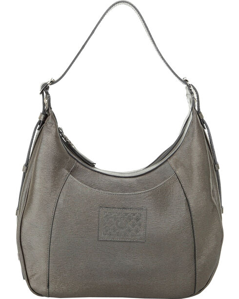 Designer Concealed Carry Grey Santa Fe Hobo Bag, Grey, hi-res