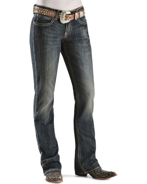 Wrangler Premium Patch Women's Mae Low Rise Boot Cut Jeans, Denim, hi-res