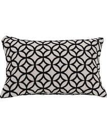 HiEnd Accents Black Augusta Cutted Velvet Pillow, , hi-res