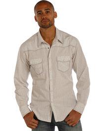 Rock & Roll Cowboy Men's Grey Crinkle Poplin Medallion Print Shirt, , hi-res