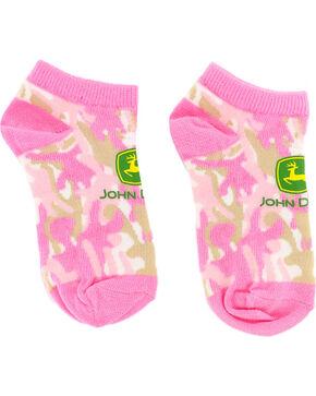 John Deere Kid's Camo Ankle Socks, Pink, hi-res