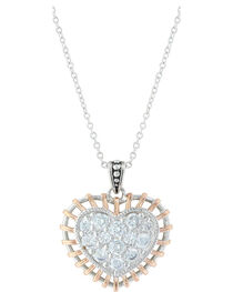 Montana Silversmiths Women's Woven Heart Necklace, , hi-res