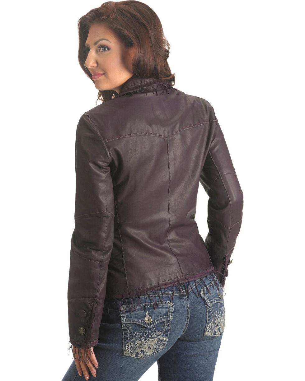 Scully String Fringe Leather Jacket, , hi-res