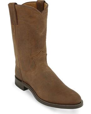 Justin Men's Bay Apache Roper Western Boots, Bay Apache, hi-res
