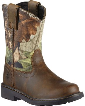 Ariat Kid's Sierra Western Boots, Brown, hi-res