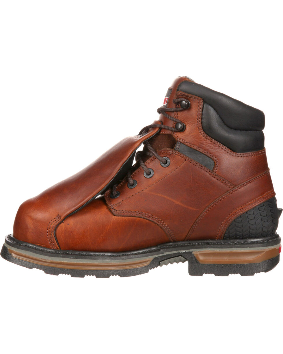 Rocky Elements Steel Waterproof Met Guard Work Boots - Safety Toe, Brown, hi-res