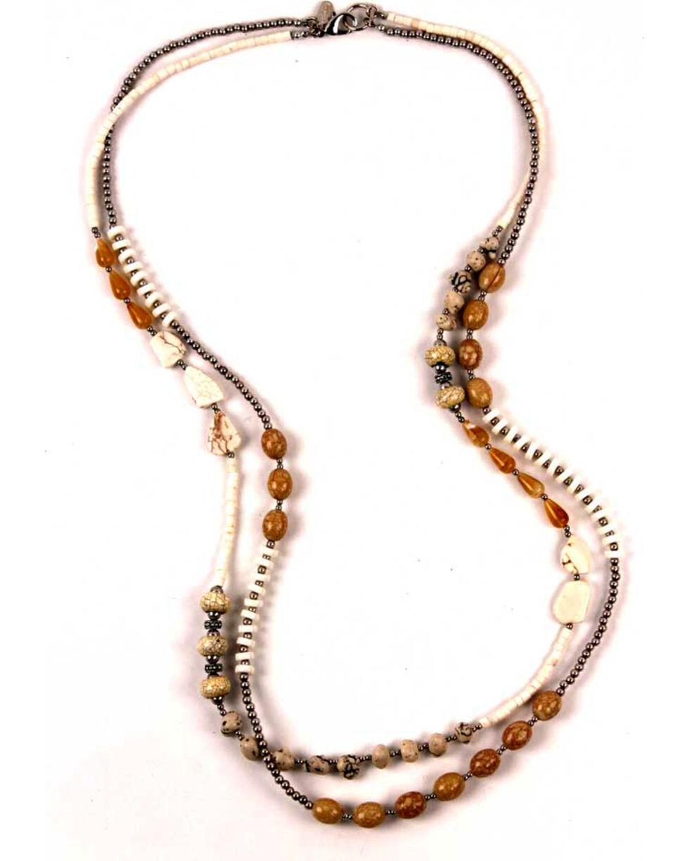 Treska Women's Long Two Strand Beaded Necklace, White, hi-res