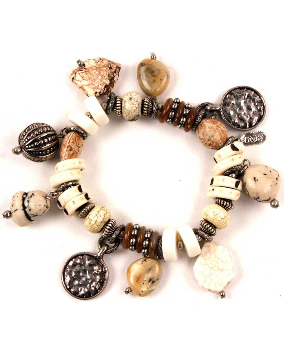 Treska Women's Trinket Stretch Bracelet, White, hi-res