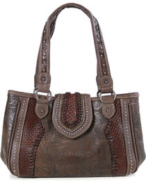 Trinity Ranch Women's Tooled Design Collection Handbag, , hi-res