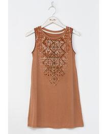 Miss Me Girls' Orange Native Trails Tank Dress , , hi-res
