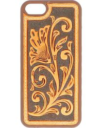 Floral Tooled Leather iPhone 5 Case, , hi-res