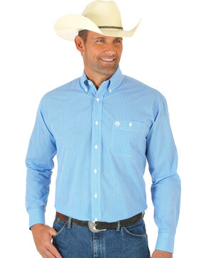 Wrangler Men's George Strait Long Sleeve Circle Print Western Shirt, Multi, hi-res