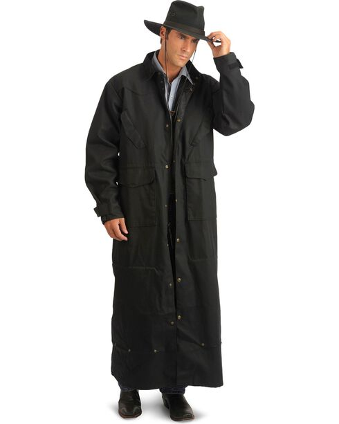 Schaefer Canvas Convertible Duster Jacket, Black, hi-res