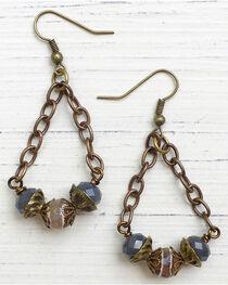 InspireDesigns Women's Bronze Beaded Pendulum Earrings , , hi-res
