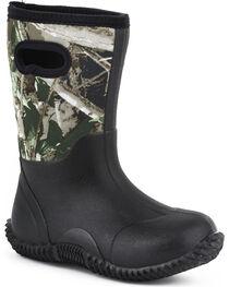 Roper Kid's Camo Neoprene Barnyard Work Boots, , hi-res