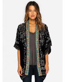Johnny Was Women's Embroidered Velvet Okinawa Kimono, , hi-res