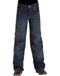 Cinch Boys' Tanner Dark Stonewash Slim Fit Jeans (8-18) - Boot Cut, , hi-res