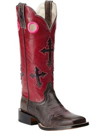 Ariat Women's Ranchero Broad Square Toe Western Boots, , hi-res