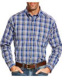 Ariat Men's Blue Brookwood Plaid Western Shirt , , hi-res