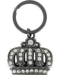 Shyanne® Black Crown Rhinestone Keychain, , hi-res