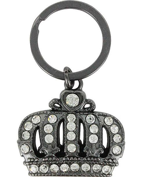 Shyanne® Black Crown Rhinestone Keychain, Black/brown, hi-res