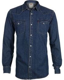 Levi's Men's Denim Long Sleeve Western Shirt, , hi-res