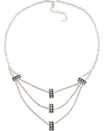 Montana Silversmiths Three Tiers Crystal Shine Necklace, , hi-res