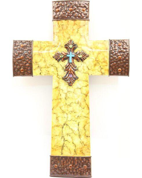 Crackled Cross Wall Art, Multi, hi-res