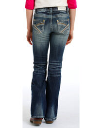 Rock & Roll Cowgirl Girls' Faded Jeans - Boot Cut , , hi-res