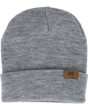 American Worker® Knit Beanie, Light Grey, hi-res