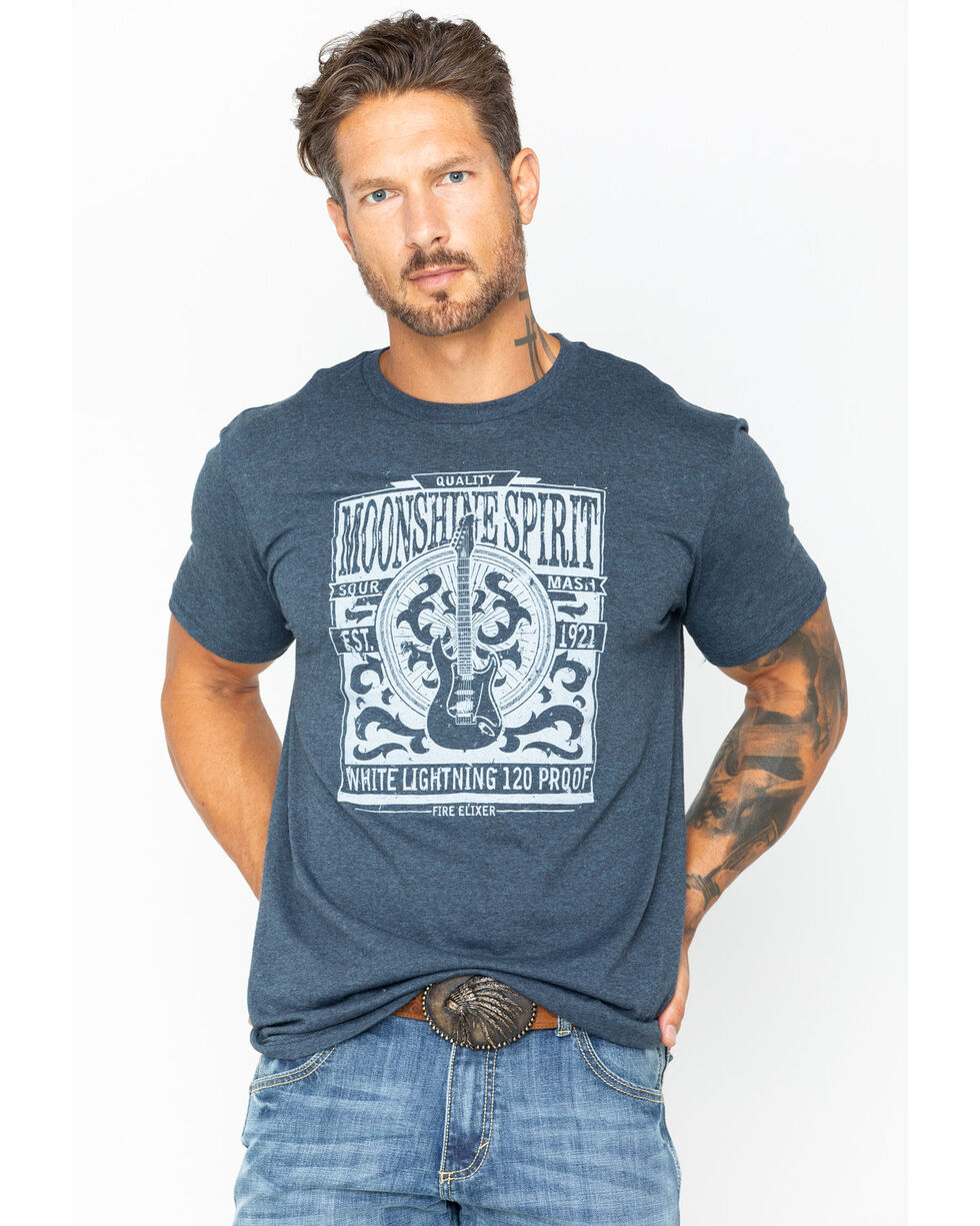Moonshine Spirit Men's Etched Poster T-Shirt, Blue, hi-res