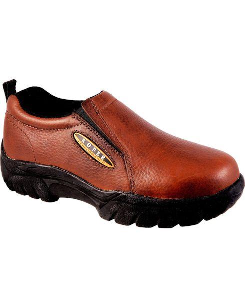 Roper Footwear Women's Performance Sport Slip On Shoes, Bay Brown, hi-res