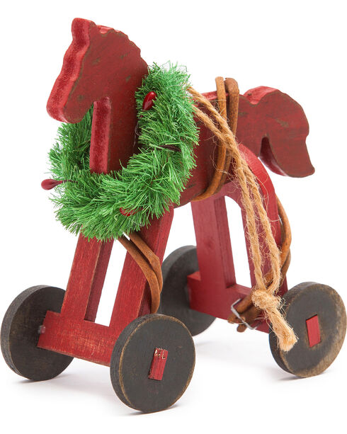 BB Ranch Wooden Rocking Horse Ornament, No Color, hi-res