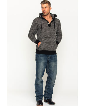 Hooey Men's Black Marley Heathered Hoodie , Black, hi-res