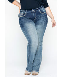 Grace in LA Women's Plain Skinny Jeans - Plus Size, , hi-res