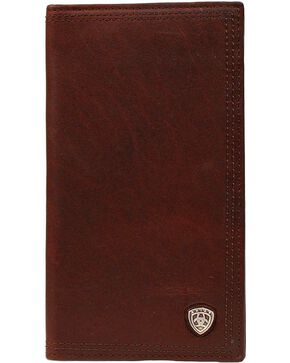 Ariat Logo Concho Rodeo Wallet, Copper, hi-res
