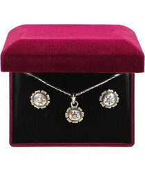 Lightning Ridge Rhinestone Star Charm Necklace Set, , hi-res