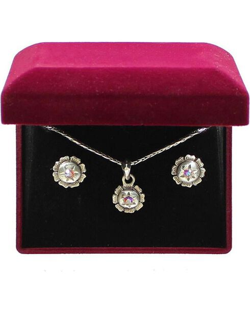 Lightning Ridge Rhinestone Star Charm Necklace Set, Multi, hi-res