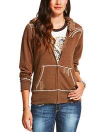 Ariat Women's Alpine Zippered Fur Trim Hoodie, , hi-res