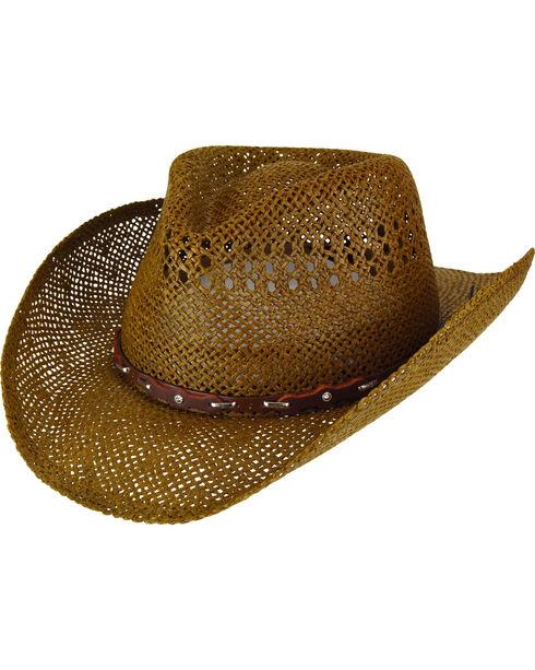 Eddy Bros. Men's Mingo Apache Leather Band Cowboy Hat, Brown, hi-res