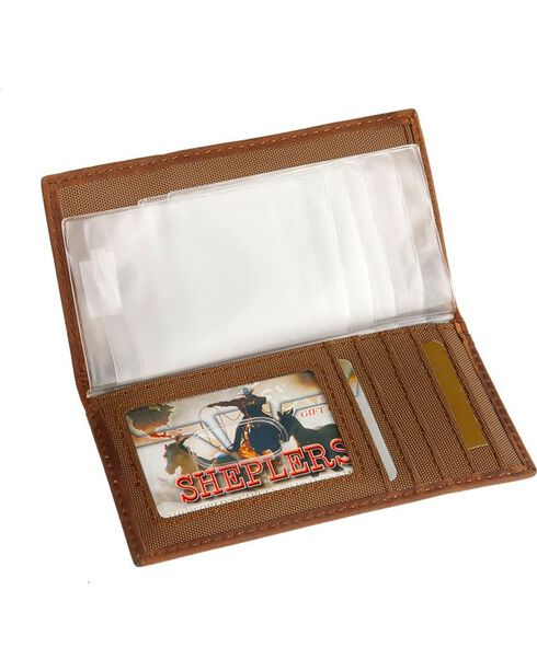 Nocona Bullrider Concho Leather Youth Rodeo Wallet, Brown, hi-res