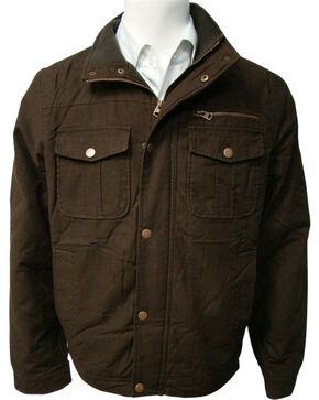 China Leather Men's Olive Cotton Twill Sherpa Lined Jacket, Olive, hi-res