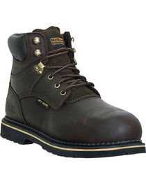 McRae Men's Steel Toe Lacer Work Boots, , hi-res