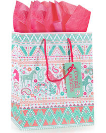 BB Ranch® Cowgirl Princess Gift Bag with Tissue Paper, , hi-res