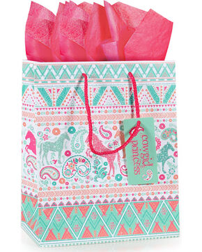 BB Ranch® Cowgirl Princess Gift Bag with Tissue Paper, No Color, hi-res