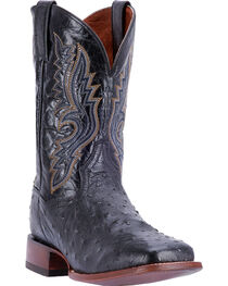 Dan Post Men's Quilled Ostrich Cowboy Boots - Square Toe , , hi-res