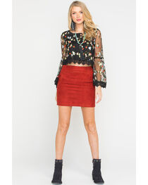 Freeway Apparel Women's Mini Skirt with Topstitching, , hi-res
